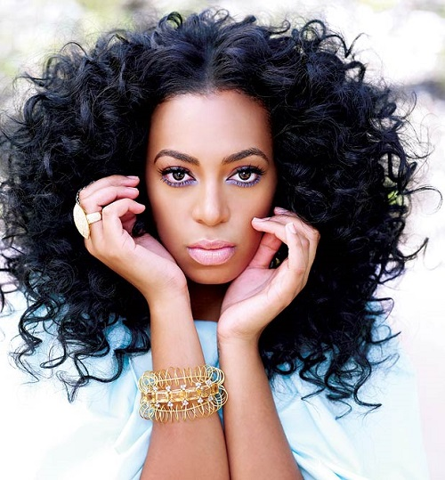 curly hair solange
